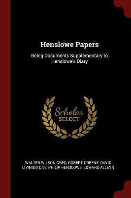 Henslowe Papers by Walter Wilson Greg image