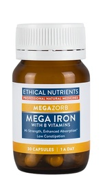Ethical Nutrients: MEGAZORB Mega Iron (30 Capsules)