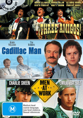Three Amigos / Cadillac Man / Men At Work (3 Disc Set) on DVD