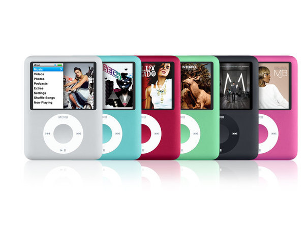 Apple - iPod nano 8GB - 3rd Gen - Blue