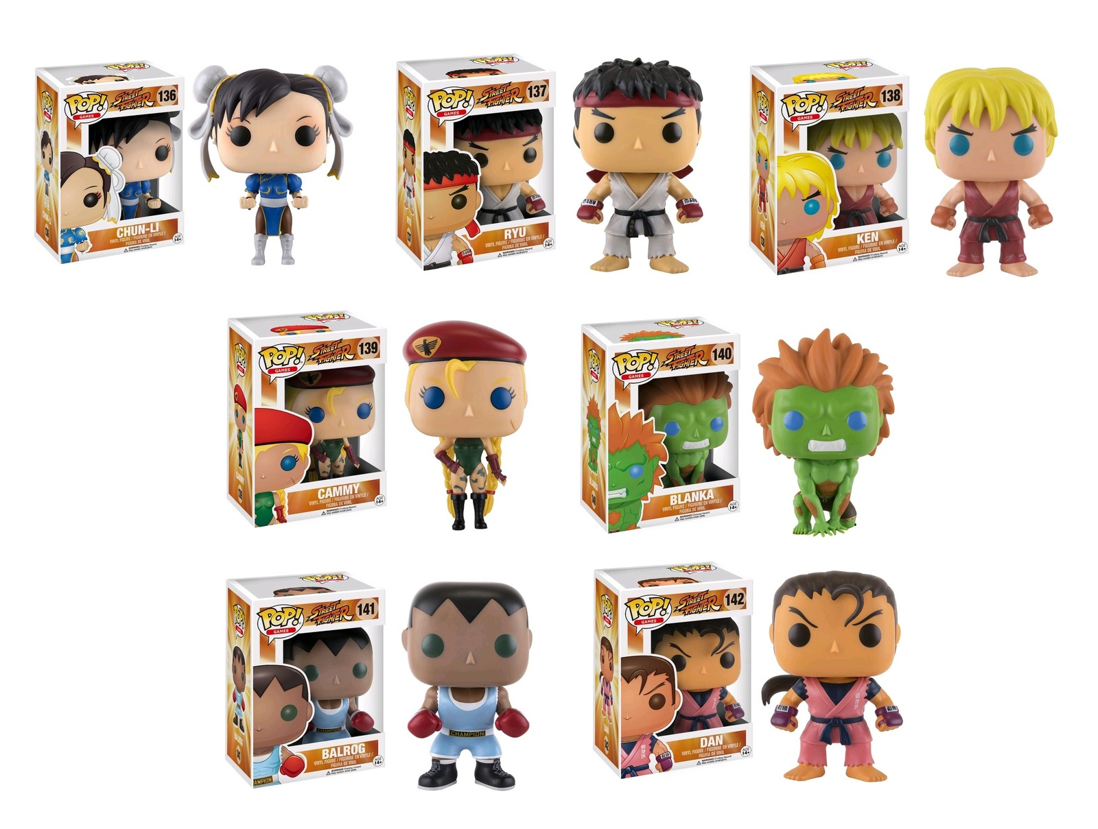 Street Fighter - Pop! Vinyl Bundle image