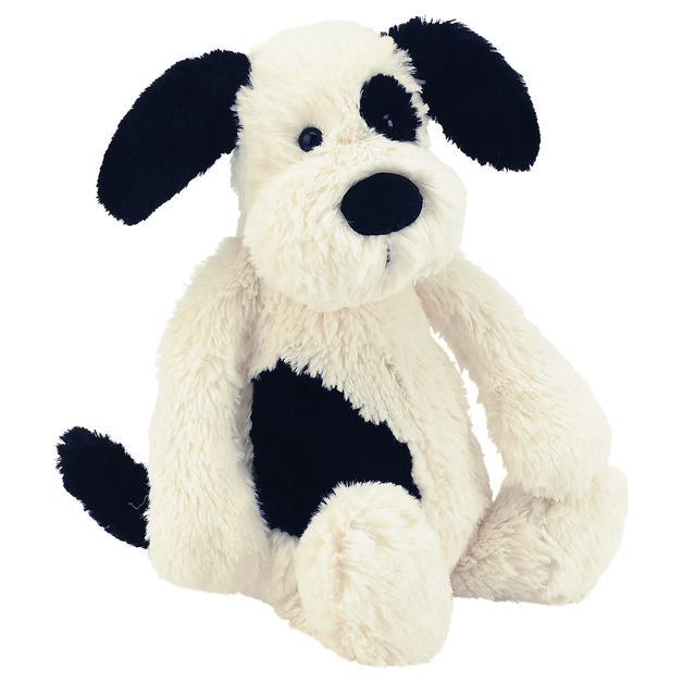 Jellycat: Bashful Puppy - Black & Cream