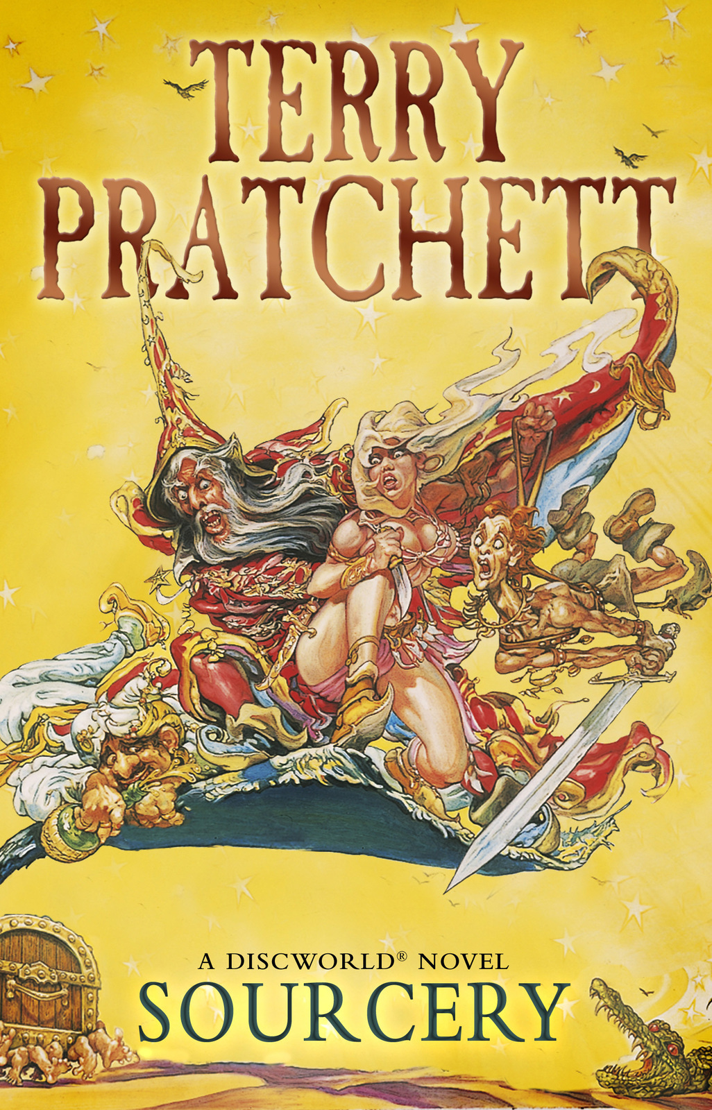 Sourcery (Discworld 5 - Rincewind/The Wizards) (UK Ed.) by Terry Pratchett image