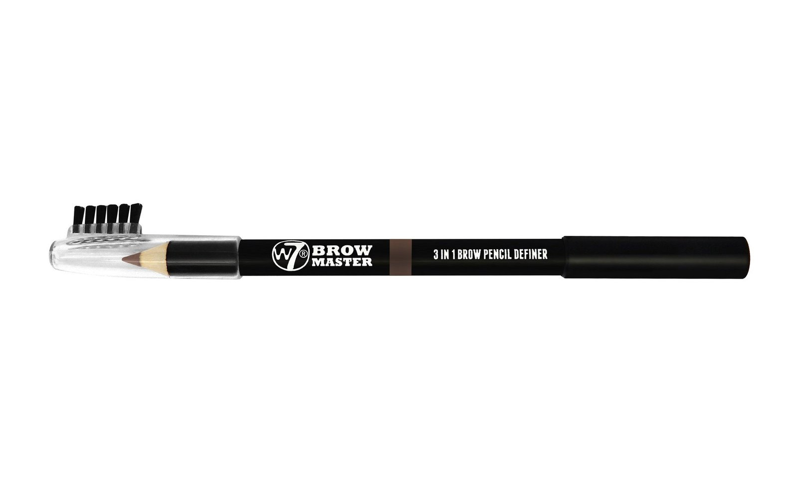 W7 Brow Master 3 in 1 Brow Pencil Definer (Brown) image