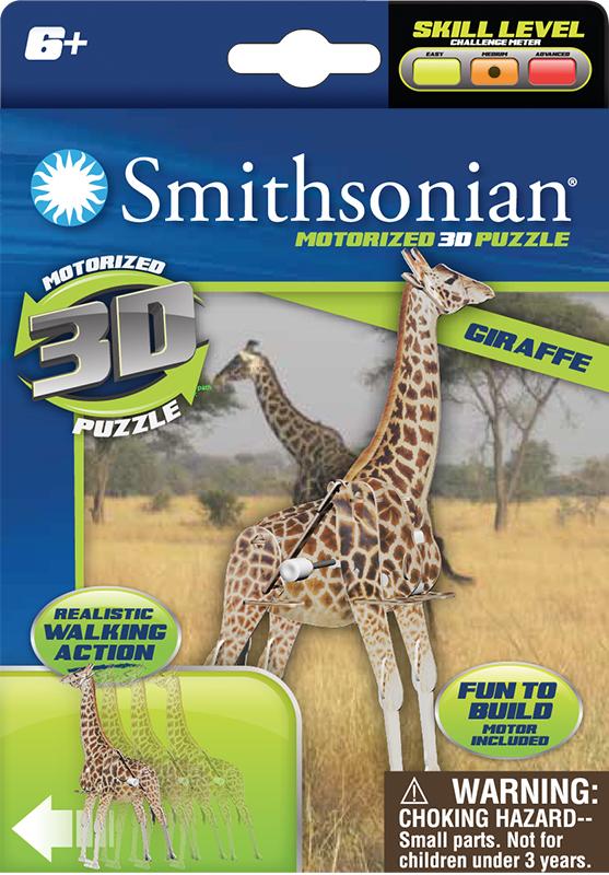 Smithsonian: Animal Wind Up Puzzle - Assortment