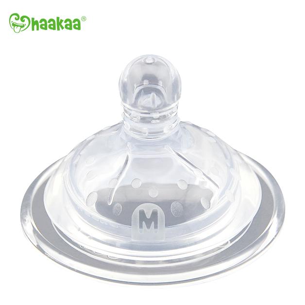 Haakaa: Wide Neck Anti-Colic Nipple - Medium