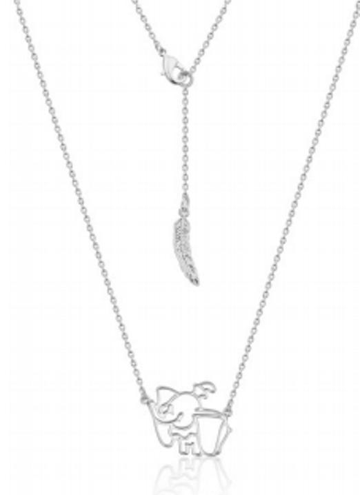 Couture Kingdom: Disney Dumbo Necklace - White Gold image