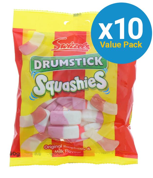 Swizzels: Squashies Drum Sticks 160g (10 Pack)
