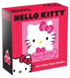 Hello Kitty Glass Coasters - 4 Pack
