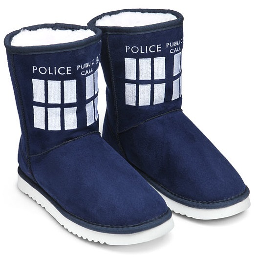 Doctor Who TARDIS Women's Ugg Boots (Size 11)