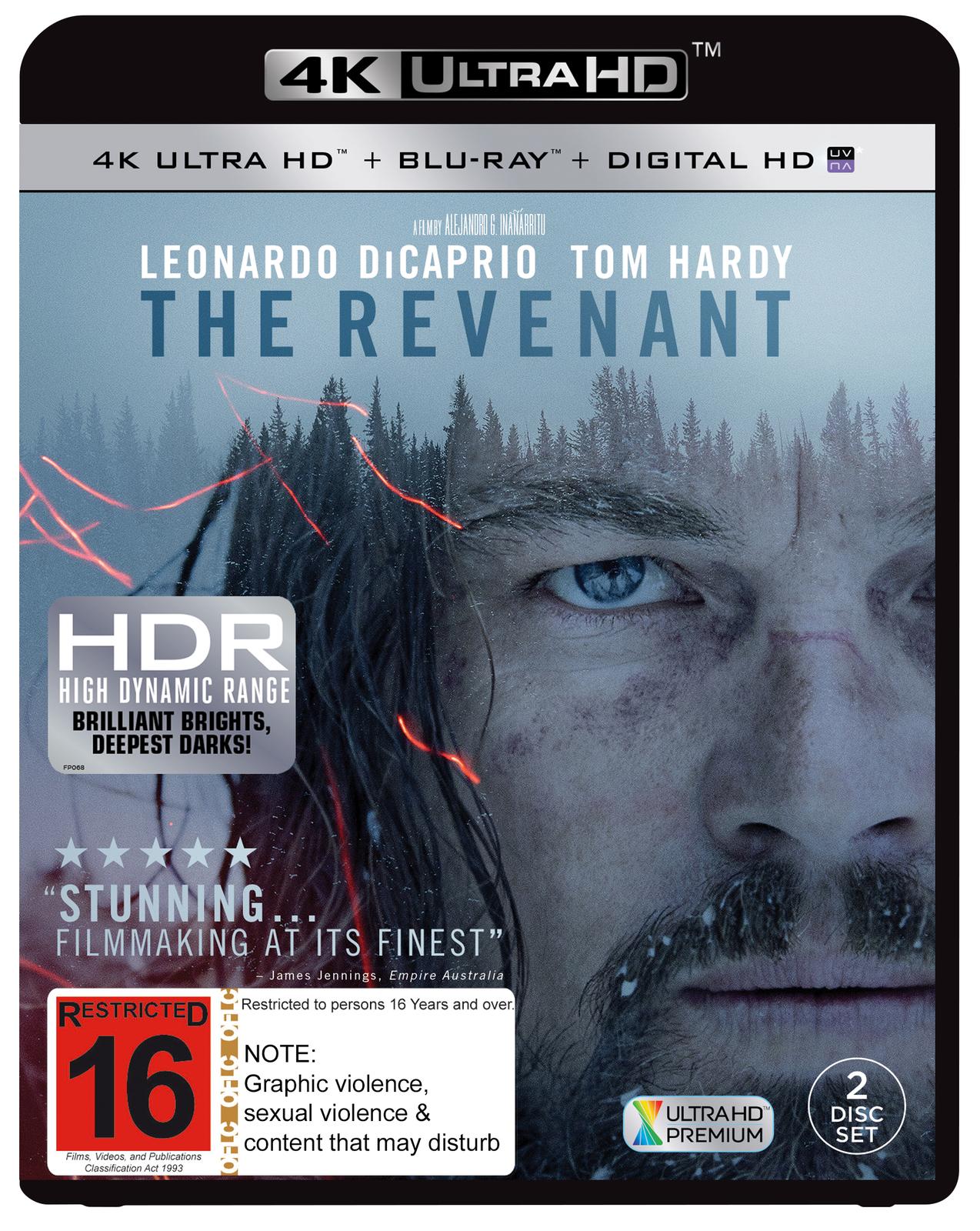 The Revenant on Blu-ray, UHD Blu-ray, UV image
