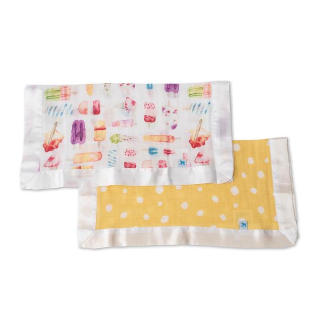 Little Unicorn: Muslin Security Blanket 2 Pack - Itsy Bitsy & Brain Freeze