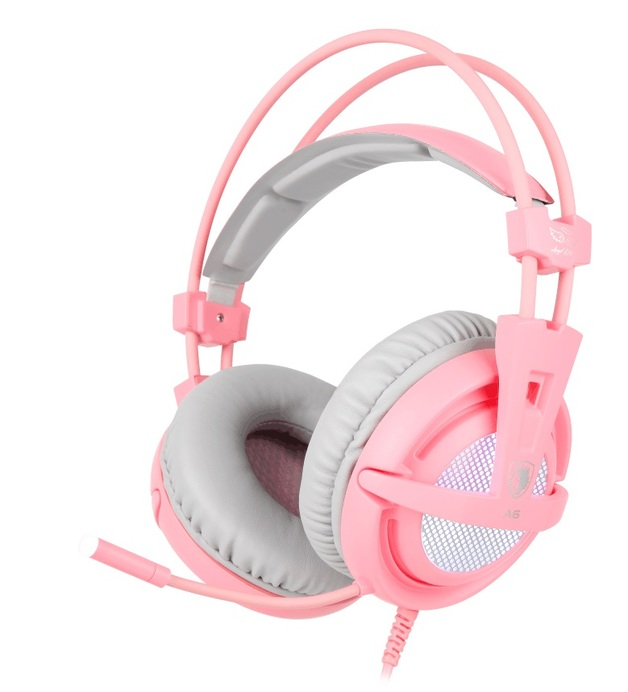 SADES A6 Gaming Headset (Pink) for PC