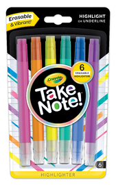 Crayola: Take Note - Erasable Highlighter Set (6-pc)