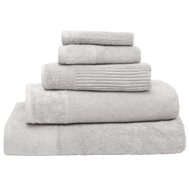 Bambury Costa Cotton Bath Towel (Silver)