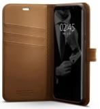 Spigen Galaxy S8+ Premium Wallet Case Coffee Brown