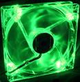 120mm LED Fan - Green