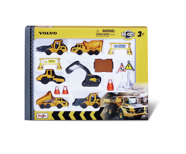 "Maisto: 3"" Volvo Construction - Playset (Assorted Designs)"