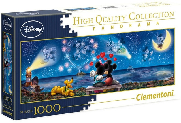 Clementoni: 1,000-Piece Puzzle - Mickey & Minnie Panorama
