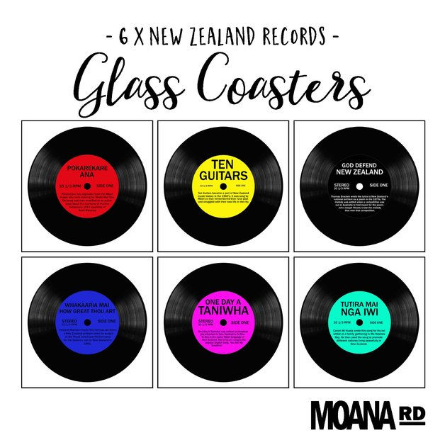 Moana Road: Kiwi Record Coasters