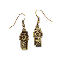 Fantastic Beasts No-Maj Earrings (antique brass plated)
