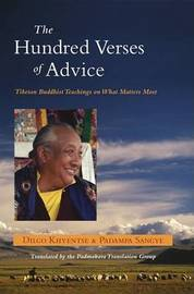 The Hundred Verses Of Advice by Padama Sangye image