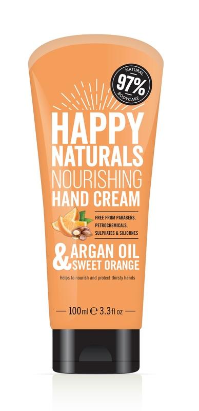 Happy Naturals Argan Oil & Sweet Orange Hand Cream (100ml)