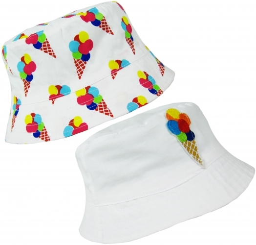 Ice Cream: Girls Sun Hat - 3-6