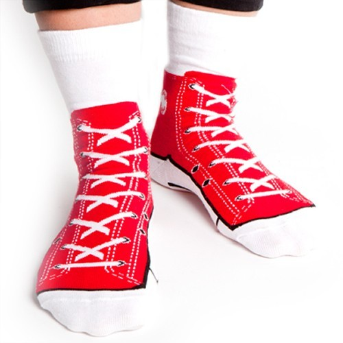 Silly Socks - Red Sneakers image