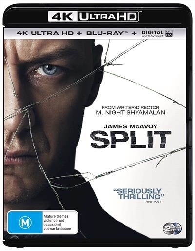 Split on Blu-ray, UHD Blu-ray