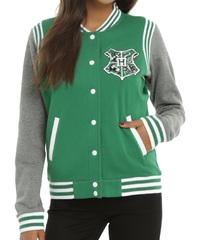 Harry Potter: Slytherin - Slim-Fit Varsity Jacket (Large)