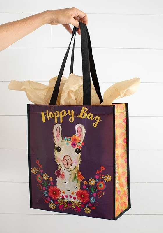 Natural Life: Happy Gift Bag - Llama Wreath (Large)