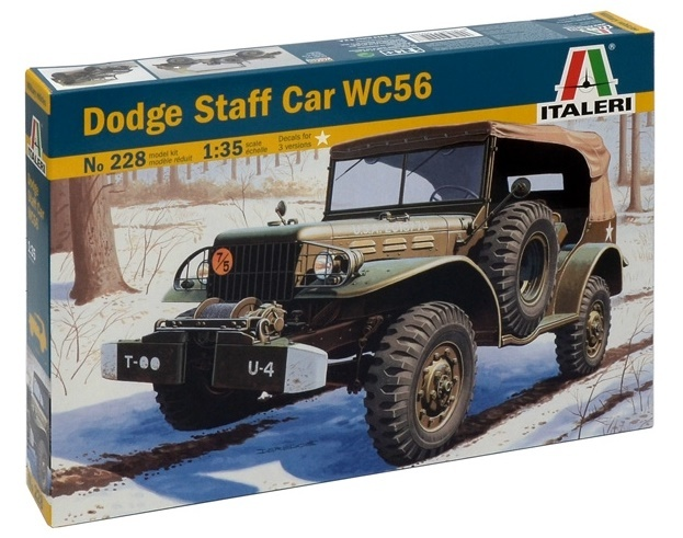 Italeri: 1:35 Dodge Staff Car WC56 - Model Kit