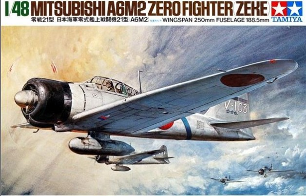 Tamiya 1/48 A6M2 Type 21 Zero Fighter - Model Kit