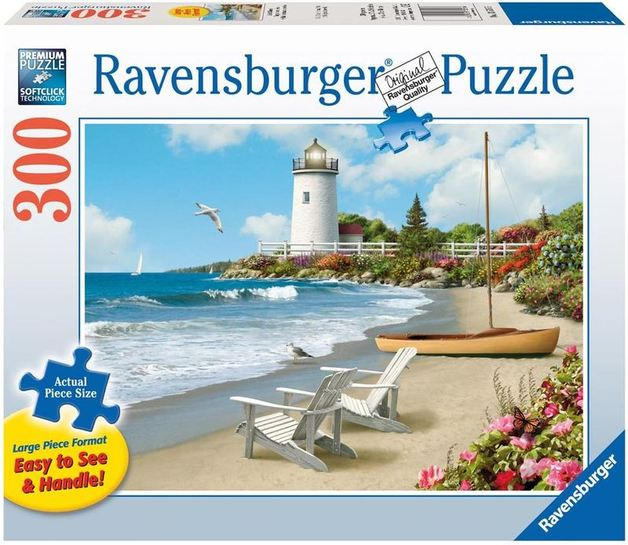 Ravensburger 300 Piece Large Format Jigsaw Puzzle - Sunlit Shores