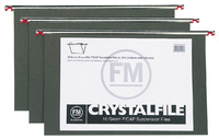 FM: Crystalfile Green Pack 10 - Suspension File Foolscap