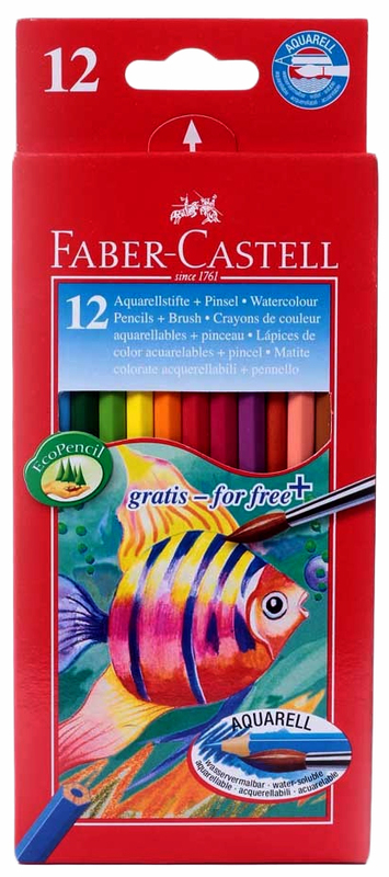 Faber-Castell Watercolour Pencils - Assorted Colours (Pack of 12)