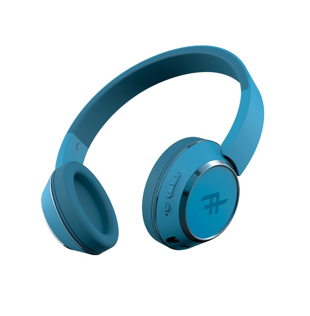 iFrogz: Coda Wireless Bluetooth Headphones With Mic - Blue