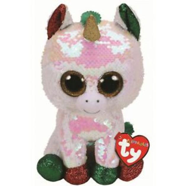 TY Beanie Boo: Flip Stardust Unicorn - Medium Plush