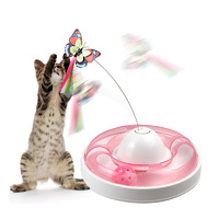 Butterfly Turntable - Interactive Pet Toy (Pink)