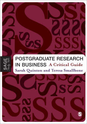 Postgraduate Research in Business by Sarah Quinton image