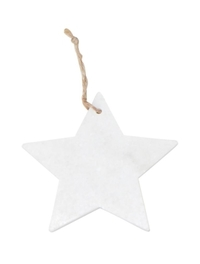 Cina Marble Star Decoration - White (11cm)
