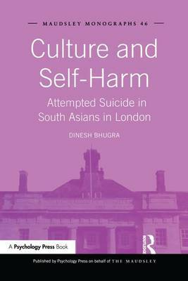 Culture and Self-Harm by Dinesh Bhugra image