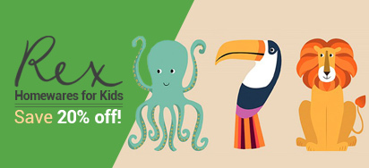 20% OFF Rex Kid's Homewares