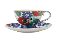 Maxwell & Williams: Teas & C's Glastonbury Footed Cup & Saucer - Passion Vine White (200ml)