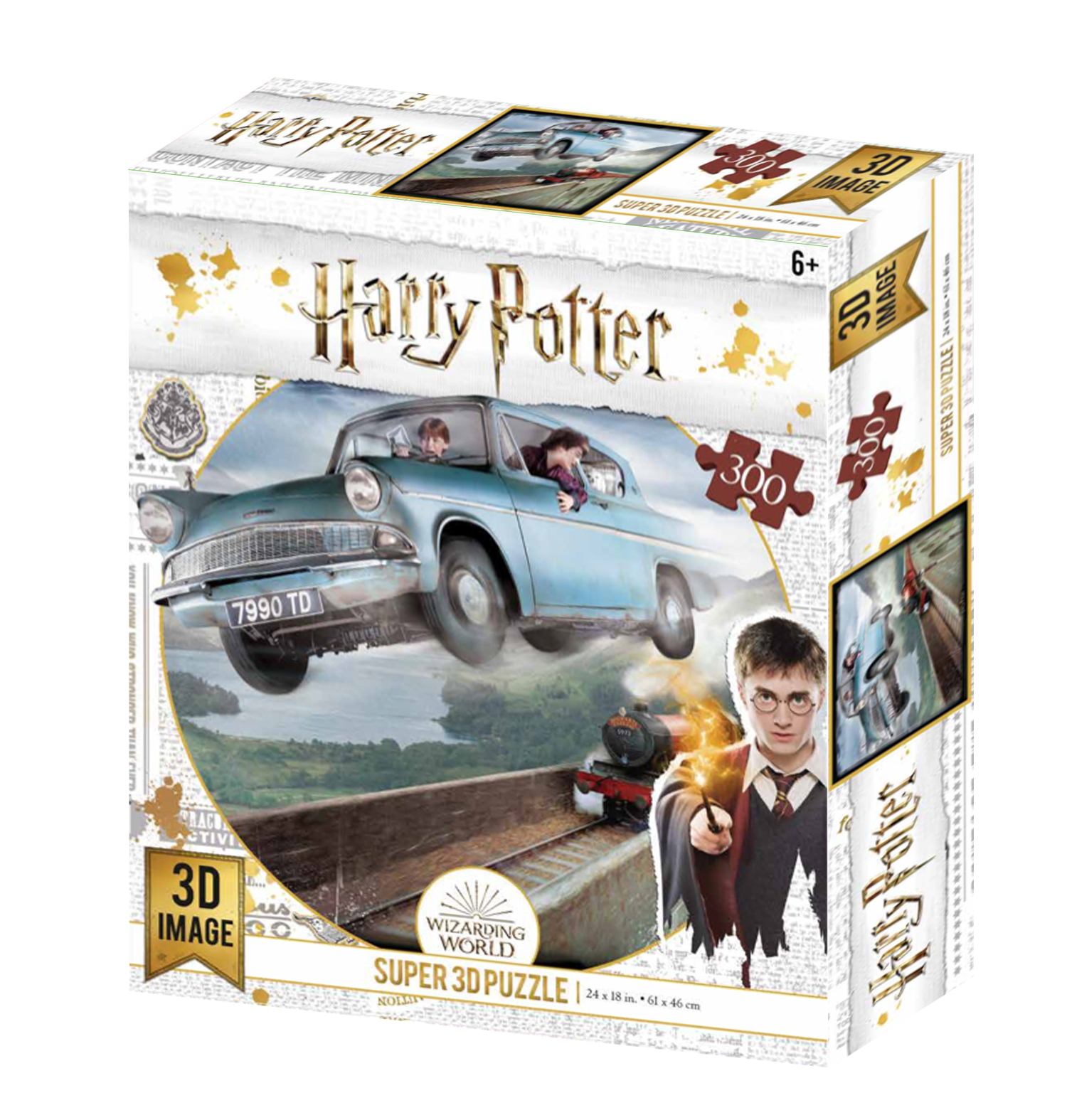 Super 3D: 300-Piece Jigsaw Puzzle - Harry Potter: Ford Anglia image