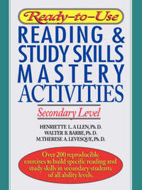 Ready-to-Use Reading & Study Skills Mastery Activities by Henriette L. Allen