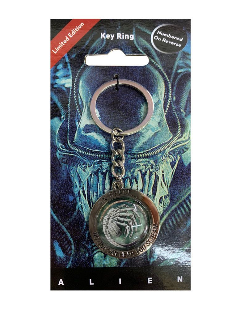 Alien: Embossed Metal Keychain - In Space No One Can Hear You Scream image