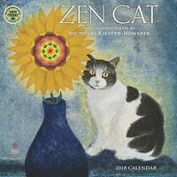Zen Cat 2018 Wall Calendar by Nicholas Kirsten-Honshin