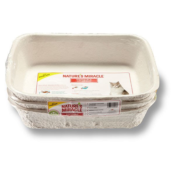 Nature's Miracle Disposable Cat Litter Box 3-Pack